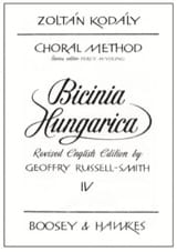 Zoltan Kodaly - Bicinia Hungarica Volume 4 - Partition - di-arezzo.fr