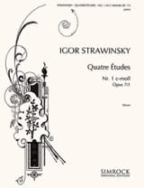 Igor Stravinski - 4 Opus Studies 7-1 - Sheet Music - di-arezzo.co.uk
