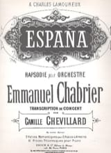 España Emmanuel Chabrier Partition Piano - laflutedepan.com