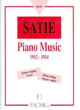 Piano Music 1912-1914 - Erik Satie - Partition - laflutedepan.com