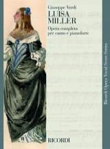 Luisa Miller Giuseppe Verdi Partition Opéras - laflutedepan.com