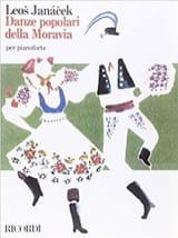 Danses Populaires De Moravie. 4 mains Leos Janacek laflutedepan.com