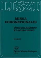 Franz Liszt - Missa Coronationalis - Partition - di-arezzo.fr
