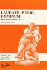 Laudate Pueri Dominum HAENDEL Partition Chœur - laflutedepan.com