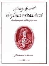 Orpheus Britannicus. 13 Songs PURCELL Partition laflutedepan