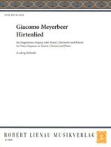 Hirtenlied Giacomo Meyerbeer Partition Clarinette - laflutedepan.com