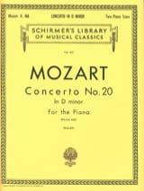 Concerto Pour Piano N° 20 En Ré Mineur KV 466 MOZART laflutedepan.com