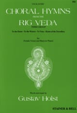 Choral Hymns From The Rig Veda. 3° Groupe - laflutedepan.com