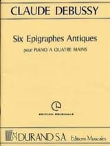 6 Epigraphes Antiques. 4 Mains DEBUSSY Partition laflutedepan.com