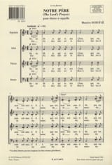 Maurice Duruflé - Our Father Opus 14 - Sheet Music - di-arezzo.co.uk