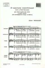 Olivier Messiaen - O Sacrum Convivium - Partition - di-arezzo.fr