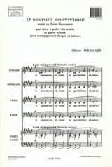 O Sacrum Convivium - Olivier Messiaen - Partition - laflutedepan.com
