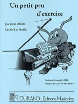 Darius Milhaud - A little bit of exercise - Sheet Music - di-arezzo.co.uk