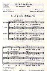 A Peine Défigurée Francis Poulenc Partition Chœur - laflutedepan.com