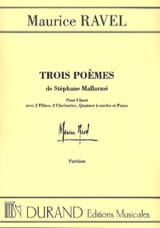 Maurice Ravel - 3 Poems of Mallarmé. Driver - Sheet Music - di-arezzo.co.uk