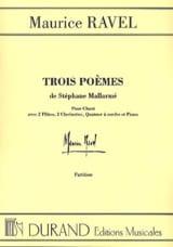 3 Poèmes de Mallarmé. Matériel - Maurice Ravel - laflutedepan.com