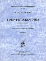 SCHUBERT - 30 Melodies. Mean Voice - Sheet Music - di-arezzo.co.uk