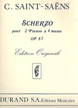 Scherzo Opus 87. 2 Pianos - Camille Saint-Saëns - laflutedepan.com