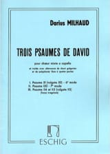 3 Psaumes de David MILHAUD Partition Chœur - laflutedepan