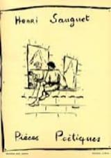 Henri Sauguet - Pièces Poétiques Volume 1 - Partition - di-arezzo.fr