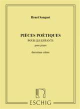 Henri Sauguet - Pièces Poétiques Volume 2 - Partition - di-arezzo.fr