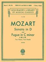 MOZART - Sonate En Ré Majeur et Fugue K 448 & 426. 2 Pianos - Partition - di-arezzo.fr