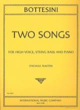 Giovanni Bottesini - 2 Songs - Partition - di-arezzo.fr