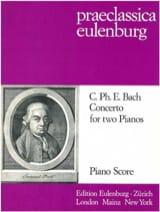 Concerto Pour 2 Pianos Carl-Philipp Emanuel Bach laflutedepan.com