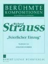 Feierlicher Einzug. 2 Pianos 8 Mains Richard Strauss laflutedepan.com