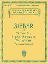 36 Vocalises De 8 Mesures. Op 96 Ferdinand Sieber laflutedepan.com