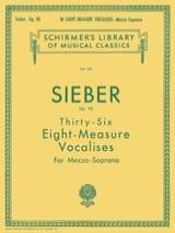 Ferdinand Sieber - 36 Vocalises of 8 Measures Opus 93. Mezzo - Sheet Music - di-arezzo.com