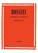 Gorgheggi E Solfeggi Gioachino Rossini Partition laflutedepan.com