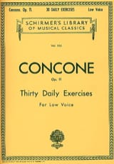 Giuseppe Concone - 30 Daily Exercises Opus 11 Vx Serious - Sheet Music - di-arezzo.co.uk