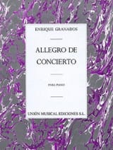 Enrique Granados - Allegro De Concierto opus 46 - Partitura - di-arezzo.it