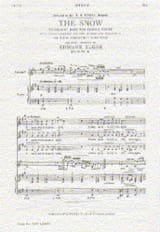 The Snow op. 26-1 Edward Elgar Partition Chœur - laflutedepan.com