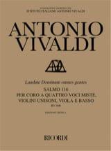 Laudate Dominum Omnes Gentes RV 606 Antonio Vivaldi laflutedepan.com