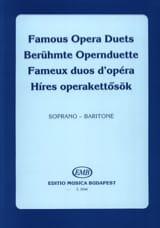 Célèbres Duos D'opéra. Soprano-Baryton Partition laflutedepan.com