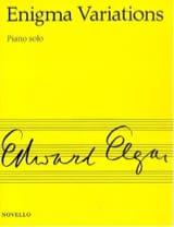 Enigma Variations Opus 36 ELGAR Partition Piano - laflutedepan.com