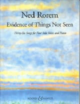 Evidence Of Things Not Seen Ned Rorem Partition laflutedepan