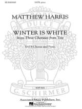 L'hivers Est Blanc Matthew Harris Partition Chœur - laflutedepan.com
