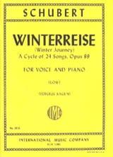 SCHUBERT - Winterreise Opus 89. Voix Grave - Partition - di-arezzo.fr