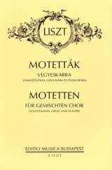 14 Motets - Franz Liszt - Partition - Chœur - laflutedepan.com