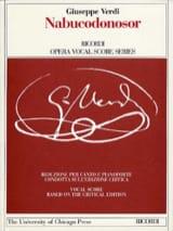 Giuseppe Verdi - Nabucodonosor. Edition Critique - Partition - di-arezzo.fr