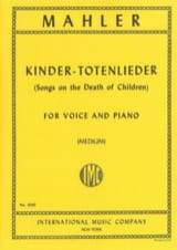 Gustav Mahler - Kindertotenlieder. Mean Voice - Sheet Music - di-arezzo.com