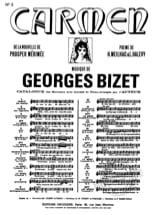 BIZET - Séguedille. Carmen - Sheet Music - di-arezzo.co.uk