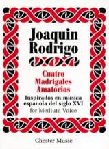 4 Madrigales Amatorios. Voix Moyenne Joaquin Rodrigo laflutedepan.com