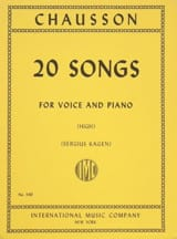 Ernest Chausson - 20 Songs. Aloud - Sheet Music - di-arezzo.co.uk