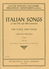 Italian Songs 17th And 18th Centuries Voix Moyenne Volume 1 laflutedepan.com