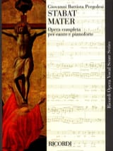 Giovanni Battista Pergolese - Stabat Mater - Partitura - di-arezzo.it