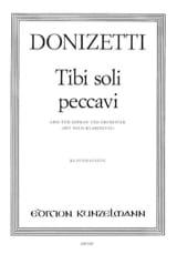 Tibi Soli Peccavi - Gaetano Donizetti - Partition - laflutedepan.com
